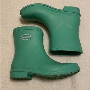 havaianas light green rain boots 7